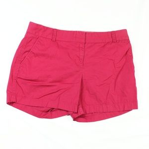 Ladies J. Crew Chino Broke in Shorts Size 6 Red